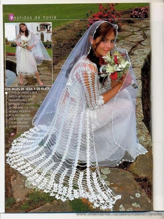 revista para novias / vestidos, accesorios, y detalles al crochet