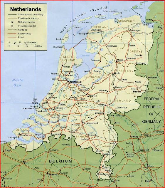 image: Netherlands Political Map