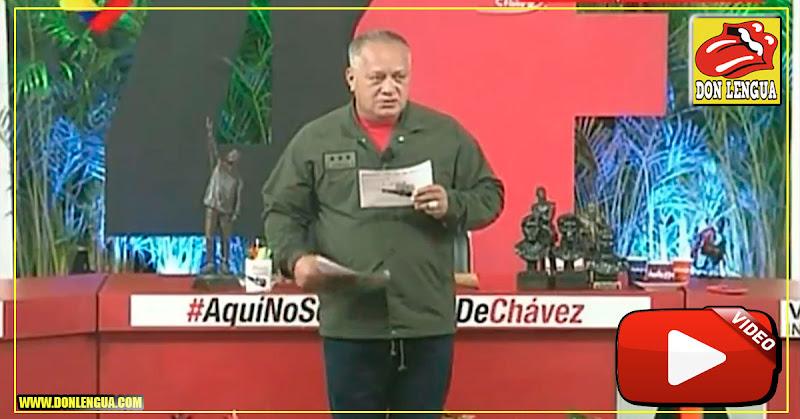 Diosdado se burló de John Bolton y de su libreta de notas