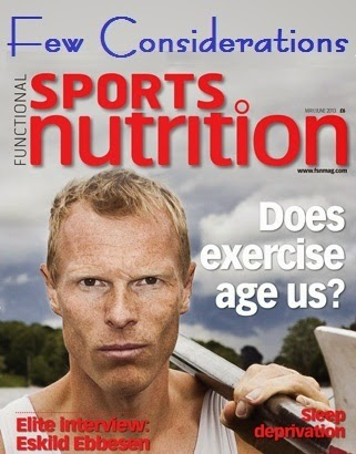 Few Considerations on Sports Nutrition