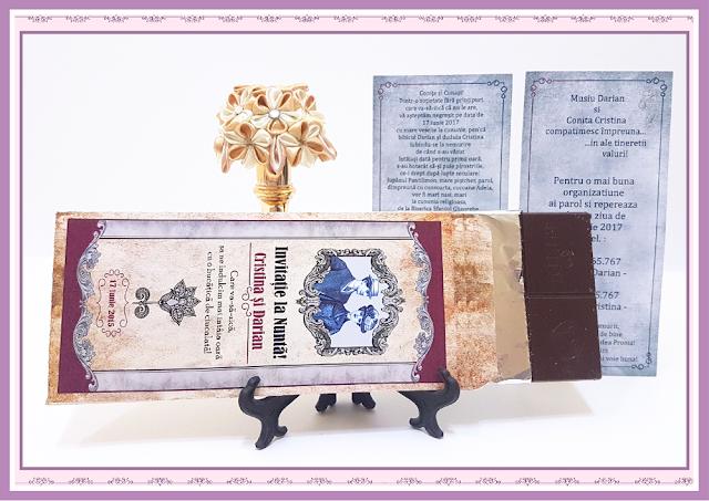 invitatie nunta ciocolata