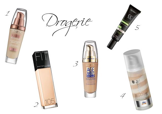 günstige Drogerie Foundations für trockene Haut