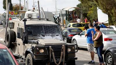 لحظة هروب منفذي عملية إطلاق النار في مستوطنة قرب نابلس