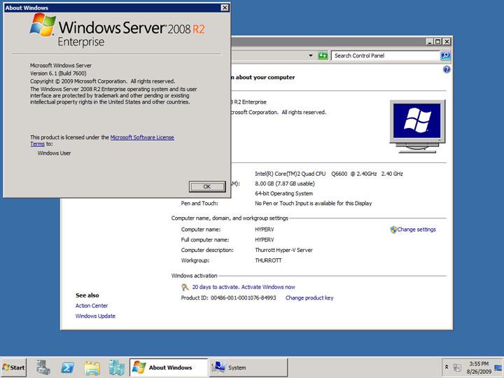 microsoft windows server 2008 r2 activation key