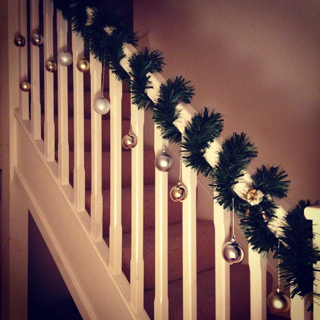 Christmas stairs decorations