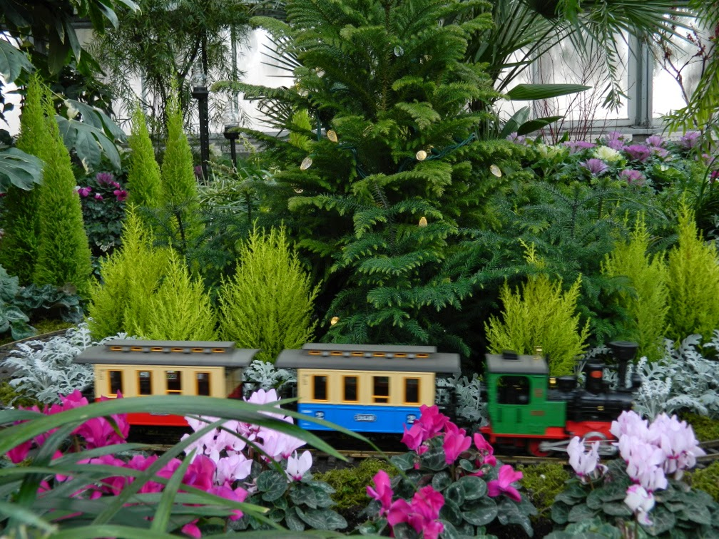 Toy train Allan Gardens Conservatory Christmas Flower Show 2014 by garden muses-not another Toronto gardening blog