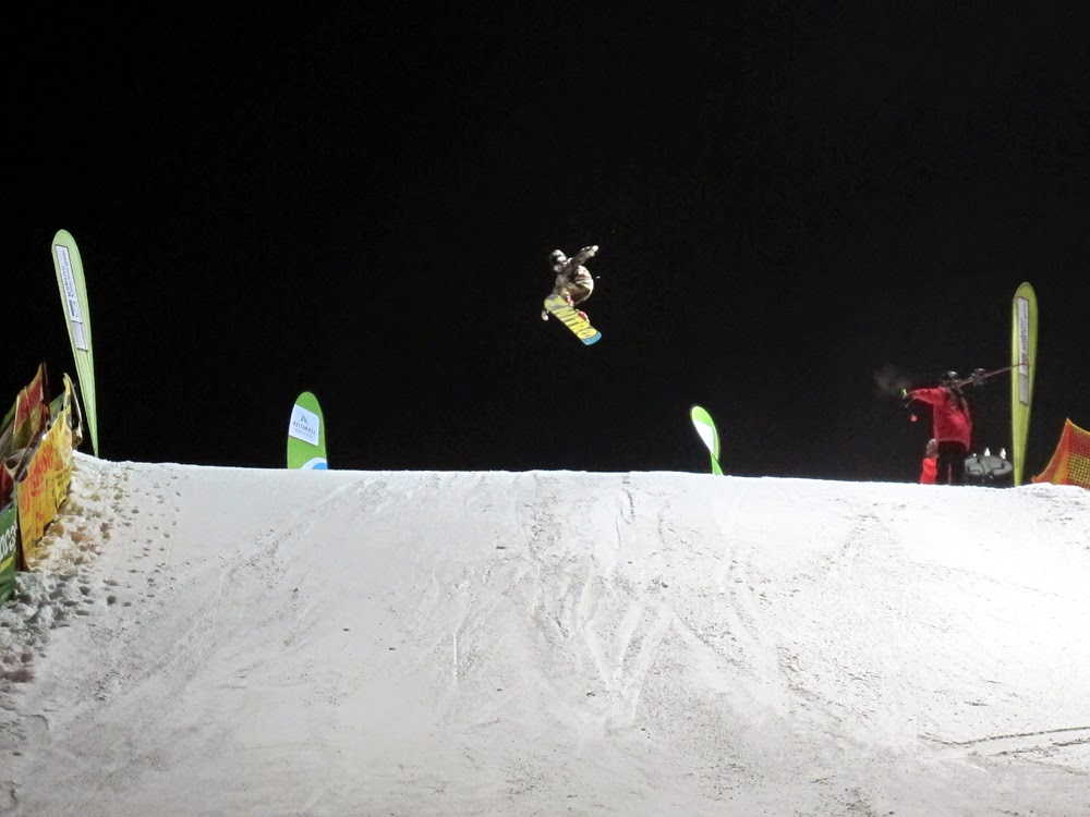 Ski show in Zell Am See, Austria