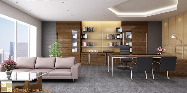 Thiết kế nội thất phòng giám đốc cao cấp - H2