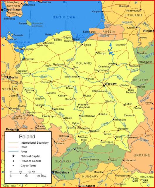 Gambar Peta Polandia