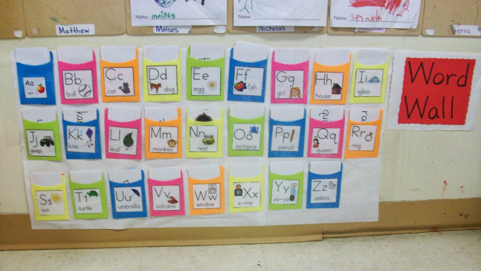 Teaching Preschool Word Wall For Writing Center