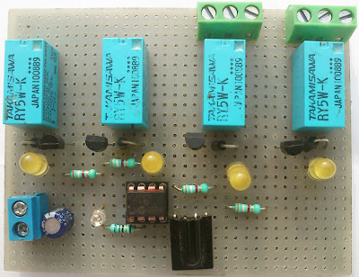 IR(infrared) Remote Control Relay Board with PIC 12F675 Microcontroller 27