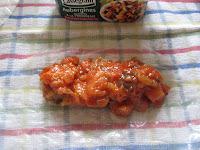nes cuisinées à la Provençale de Cassegrain et aux crevettes, garnissage, trnd
