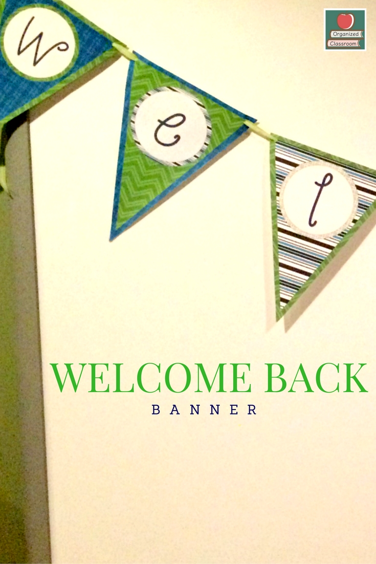 Heading back to school? Have 101+ things on your to-do list? Grab a quick freebie welcome banner and be able to check that item off and keep moving. :)