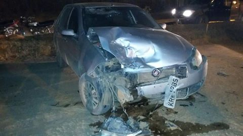 Motociclista fica ferido ao colidir com carro parado, na cidade de Uruará