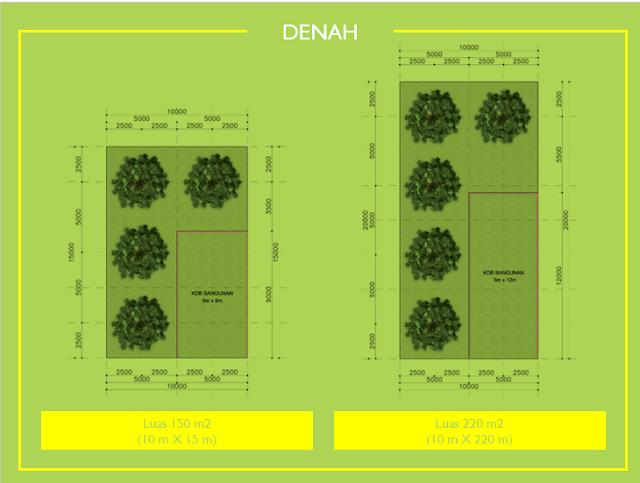 denah cluster durian musang king kampung buah cikalong - investasi properti syariah