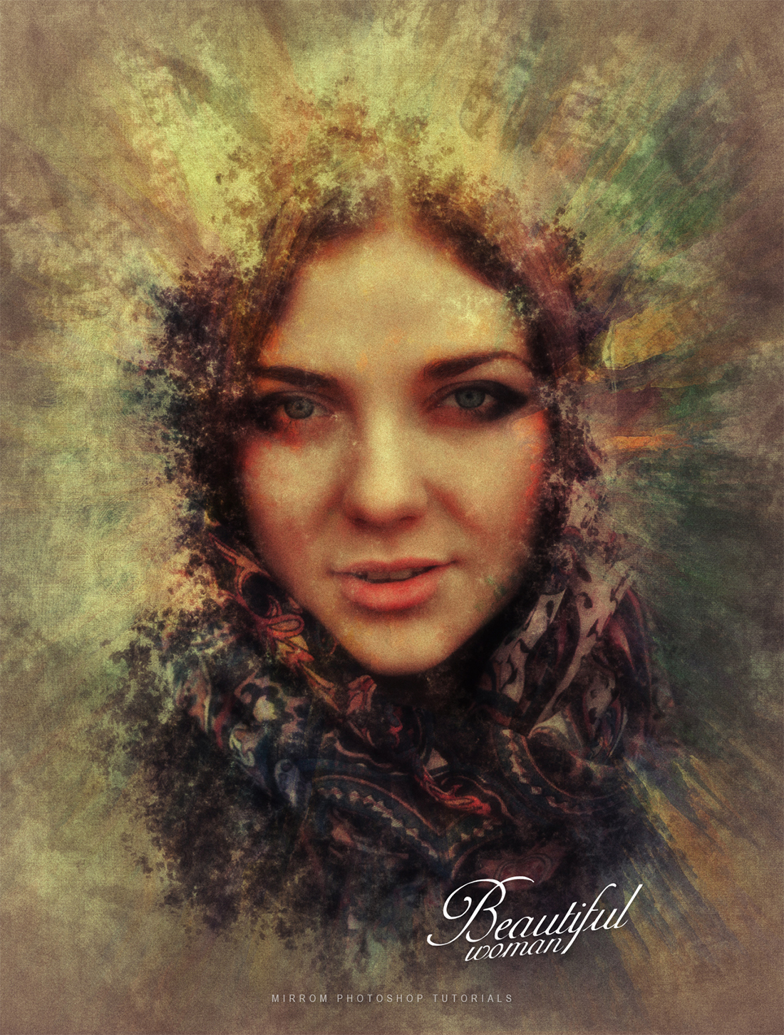 Create a Abstract Vintage Art Poster Design In Photoshop