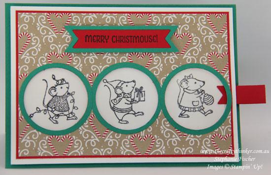 Stampin Up, #thecraftythinker, Christmas Card, Xmas Card, Magic Card, Merry Mice, Stampin Up Australia Demonstrator, Stephanie Fischer, NSW