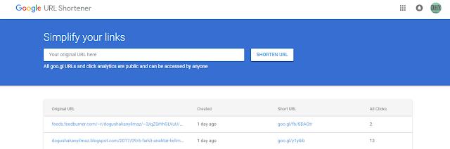 google-url-kısaltma