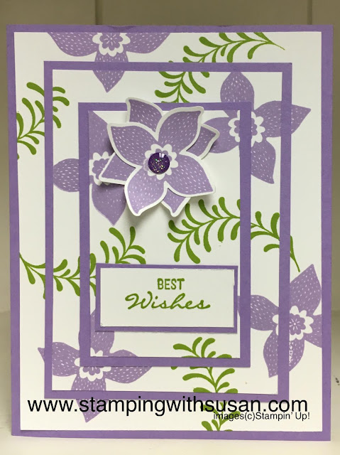 www.stampingwithsusan.com, Stampin' Up!, Pop of Petals, Four-Petal Flower Punch