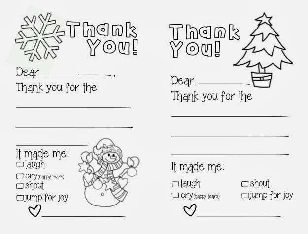 image relating to Christmas Thank You Notes Printable referred to as Make Little ones Couture: Printable Thank Yous
