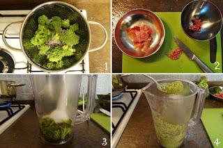 Foto preparazione ricetta pasta per bambini broccoli e prosciutto crudo