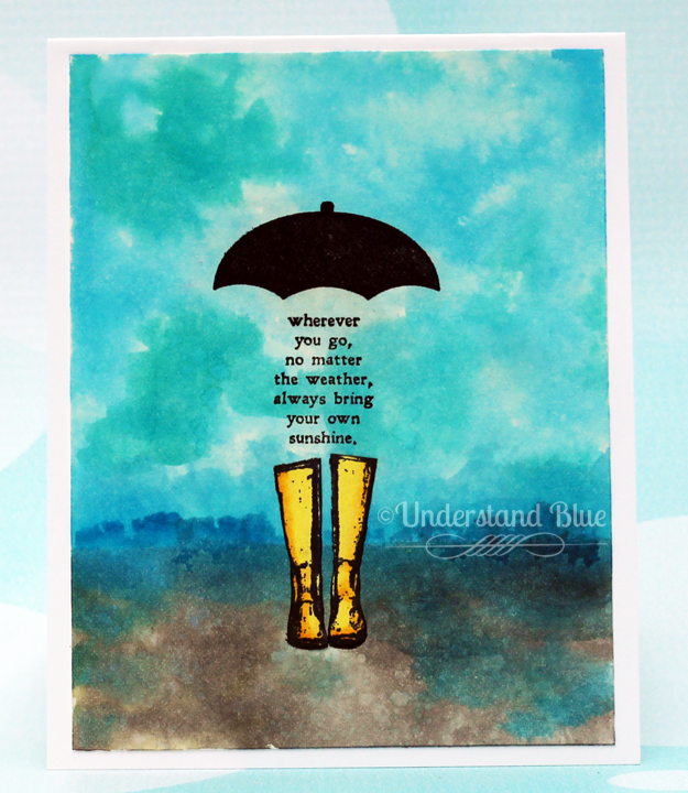 BYO Sunshine by Understand Blue - Distress Ink, Technique Junkies, and the MISTI