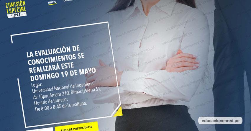 Resultados Examen JNJ (Domingo 19 Mayo 2019) Lista de Postulantes Aprobados Evaluación de Conocimiento - Junta Nacional de Justicia - www.comisionespecialjnj.gob.pe