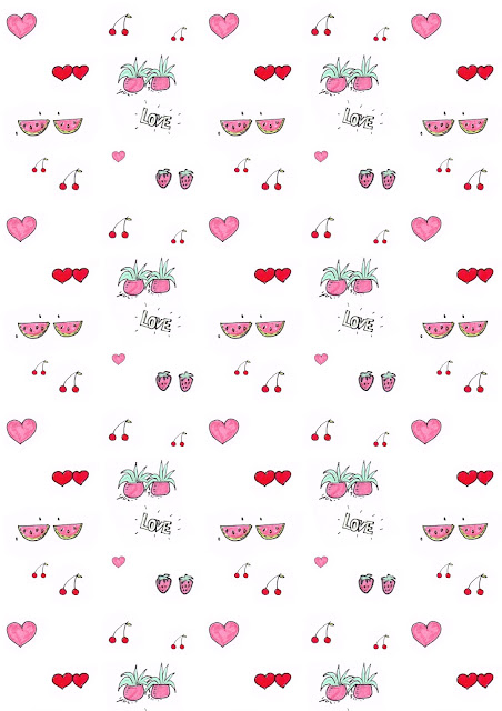 Free digital watermelon scrapbooking paper featuring the cutest doodles - freebie