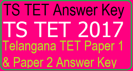 TS TET Answer Key Download Telangana TET Paper 1 & 2 Manabadi, Schools9, eenadu, sakshi Key @tstet.cgg.gov.in