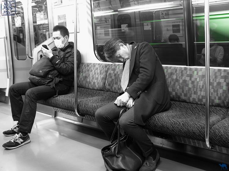 Le Chameau bleu - Blog Voyage Japon - Voyage à Tokyo - Dans le métro de Tokyo