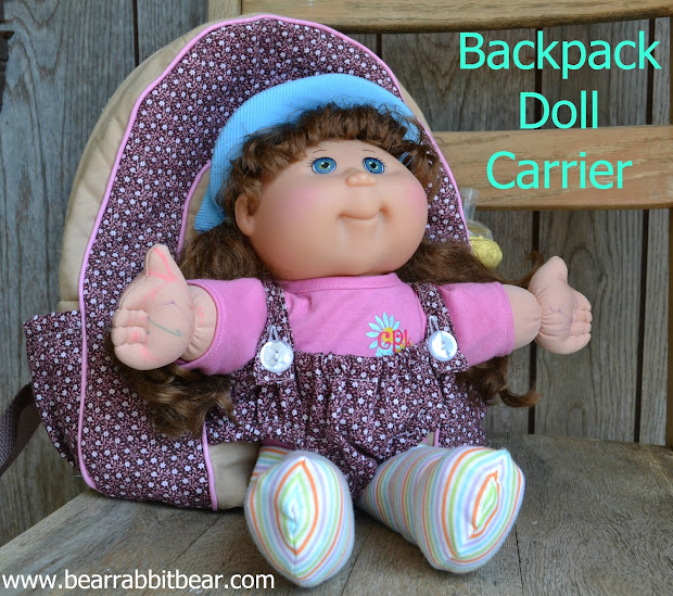 Baby Doll Backpack Carrier- Simplicity Pattern 1952
