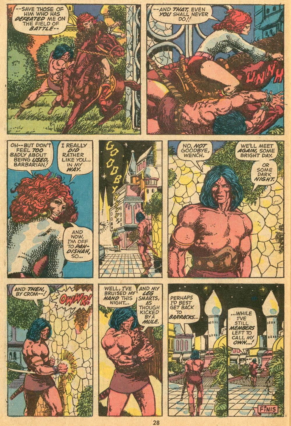Conan the Barbarian (1970) Issue #24 #36 - English 21