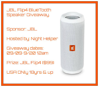 Enter the JBL Flip4 Bluetooth Speaker Giveaway. Ends 9/20