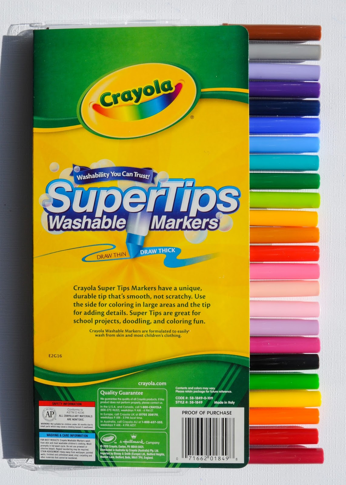 Crayola Super Tips Washable Markers What S Inside The Box Jenny S Crayon Collection