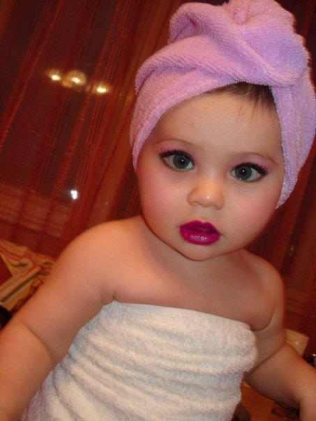 Baby Girl With Makeup Image Cute