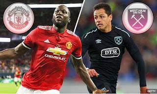 Susunan Pemain Manchester United vs West Ham - Adu Tajam Lukaku v Chicharito