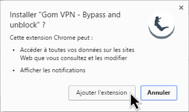 اضافات google chrome  Gom Vpn