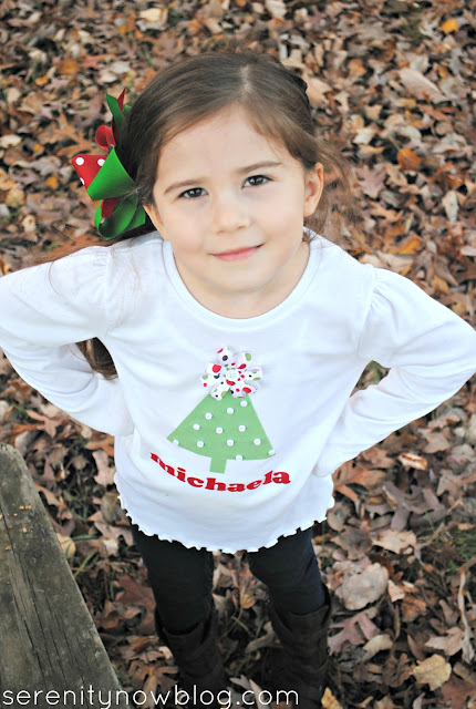 DIY Christmas Tree Shirt (Silhouette Craft), from Serenity Now