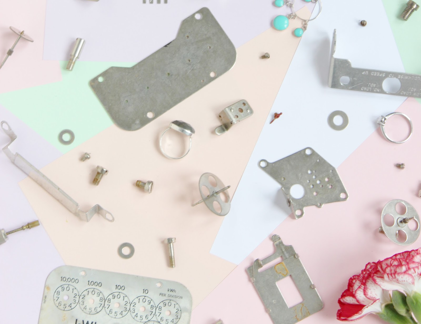 Smart Energy GB jewellery design with electrical meter parts