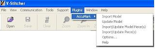 Gerber AccuMark V-Stitcher Interface