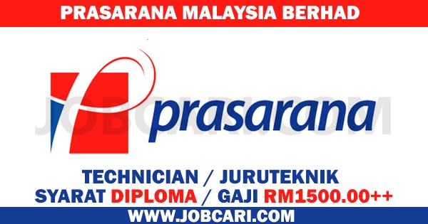 JAWATAN KOSONG PRASARANA MALAYSIA