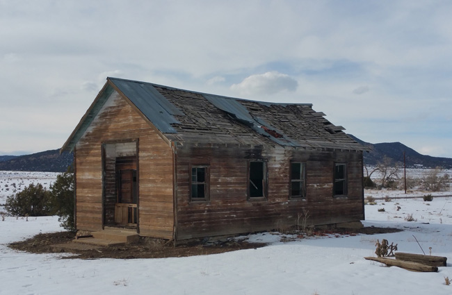 Abandoned Schoolhouse Ruins of Ludlow, Colorado Ghost Town