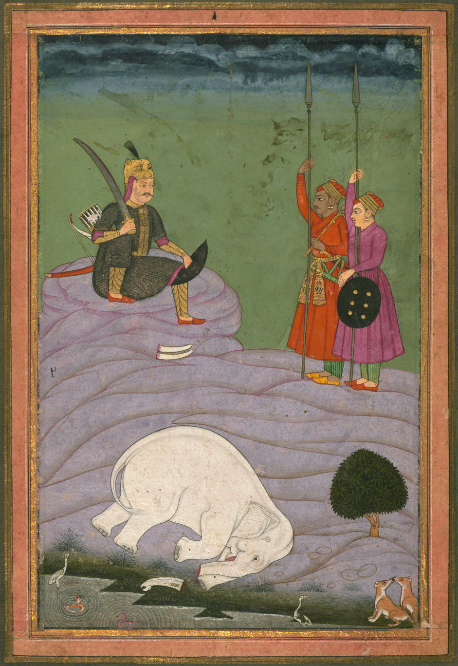 Karnata (Kanada) Ragini - Miniature Painting, Ragamala series, 19th Century