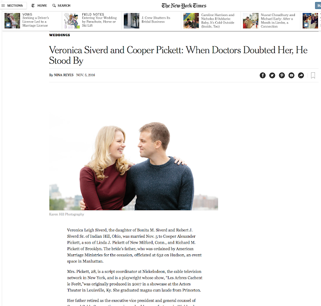 Published, The New York Times, Veronica and Cooper