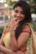 aditi menon new sizzling half saree stills-thumbnail-10
