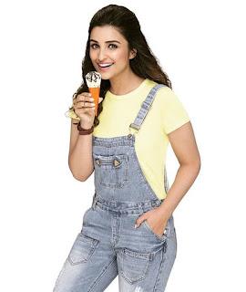Parineeti Chopra models for Vadilal Icecream