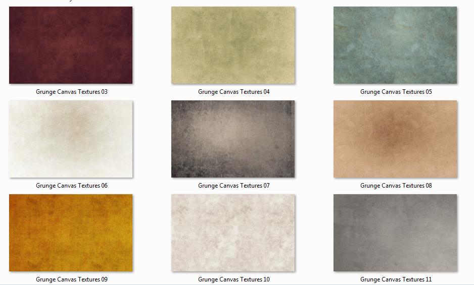 11 Adet Ücretsiz Grunge Canvas Dokuları
