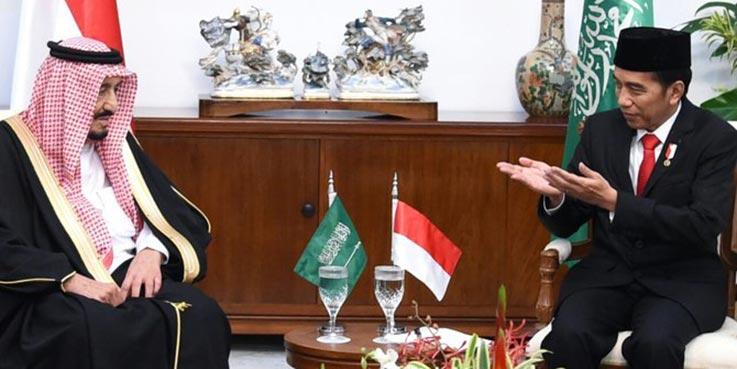 Presiden Jokowi dan Raja Salman di Istana Bogor.
