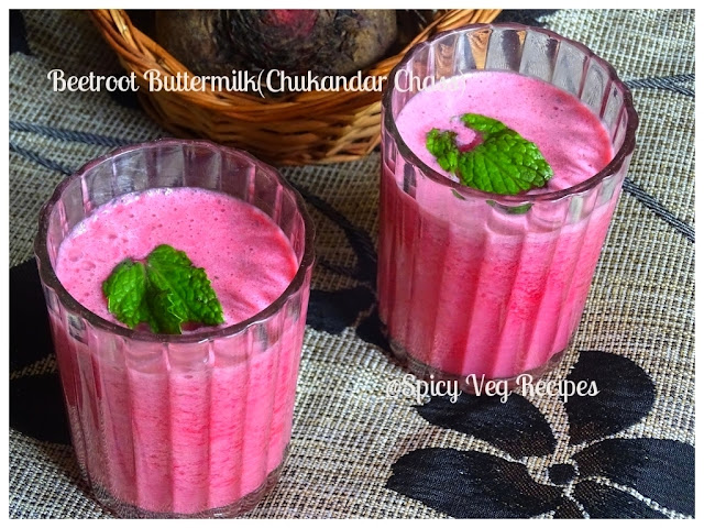 Beverages, fusion, Miscellaneous, Summer Recipes, Quick Recipes, Beetroot Buttermilk (Chukandar Chaas)Recipe, How to makeBeetroot Buttermilk beet, chukandr, beetroot (Chukandar Chaas)buttermilk, chaas