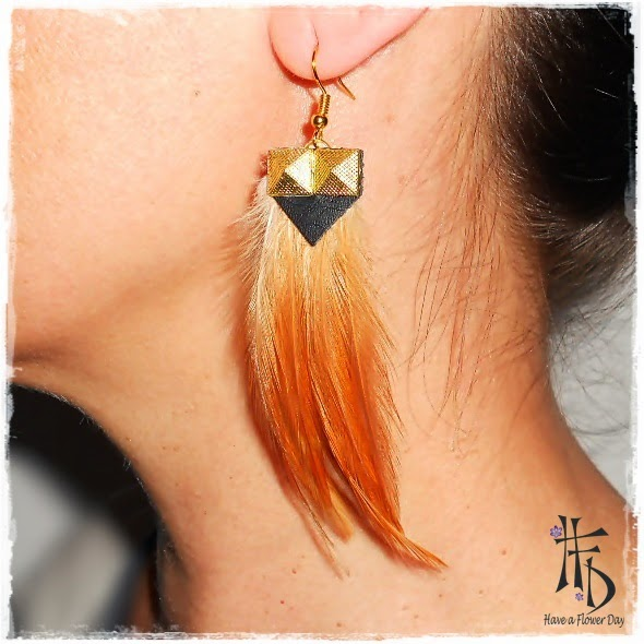 TRIBAL. Pendientes de plumas / Feather earrings